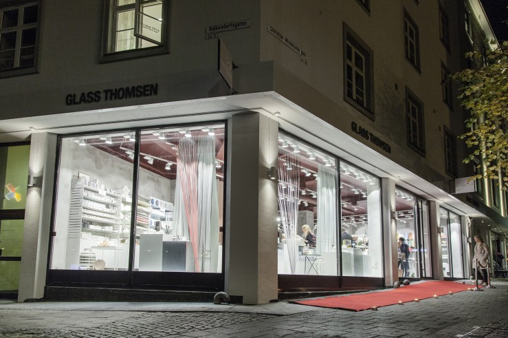 Glass Thomsen med lekker design flagship store i Bergen sentrum