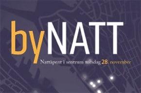 byNATT – nattåpent i sentrum til kl 24 torsdag 28. november