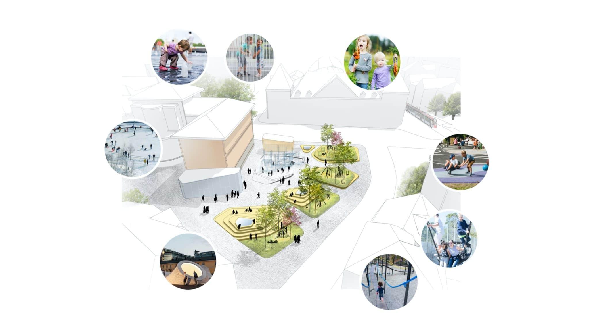 Bergen Sentrum AS foreslår Barnas kvartal i Marken